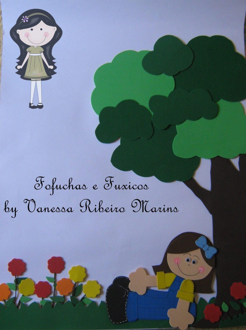 Mural Dia da Arvore em EVA para escola