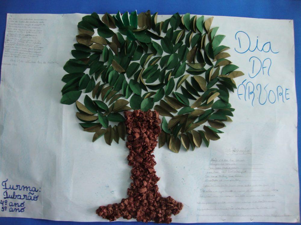 Painel para o Dia da Arvore escolar infantil