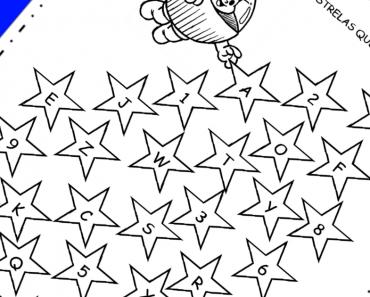 Pinte as estrelas com letras do alfabeto
