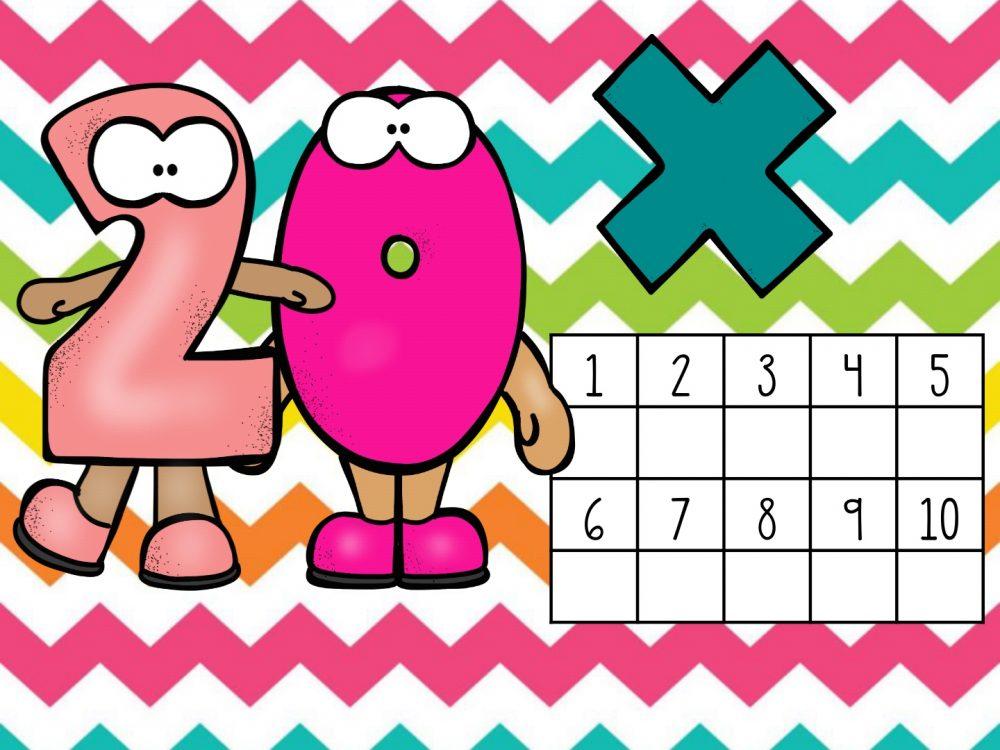Tabelas de multiplicação