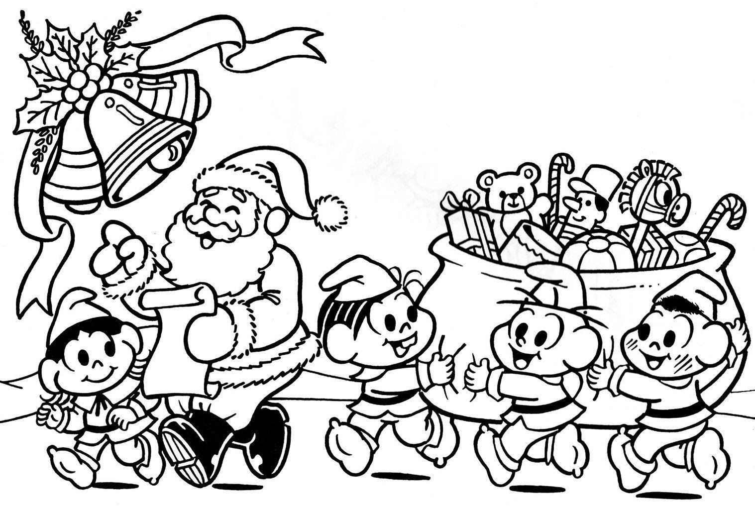 10 Desenhos De Natal Para Colorir So Escola
