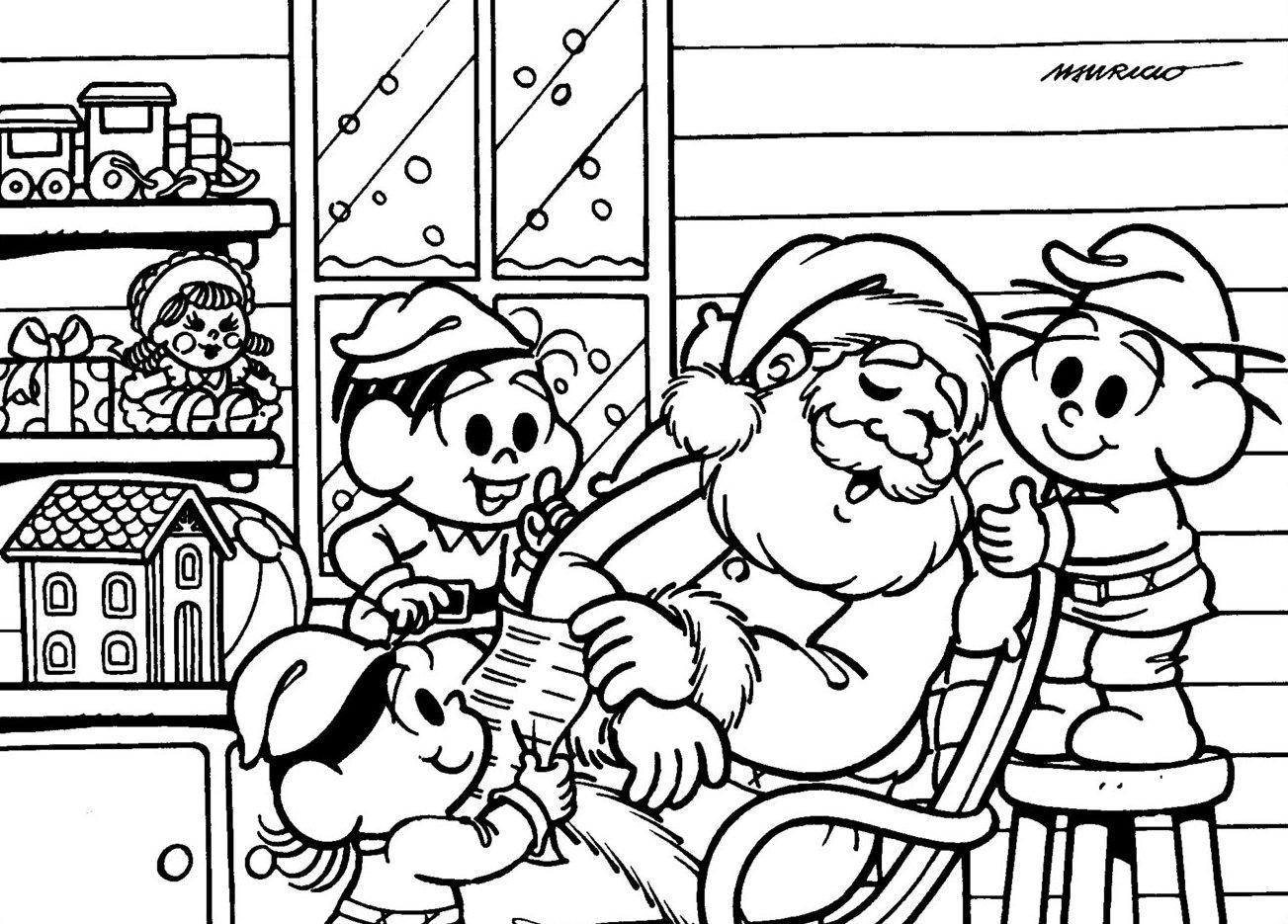 10 Desenhos De Natal Para Colorir Só Escola