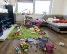 A felicidade escondida na desordem da casa
