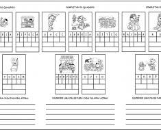 Atividades para completar e formar frases