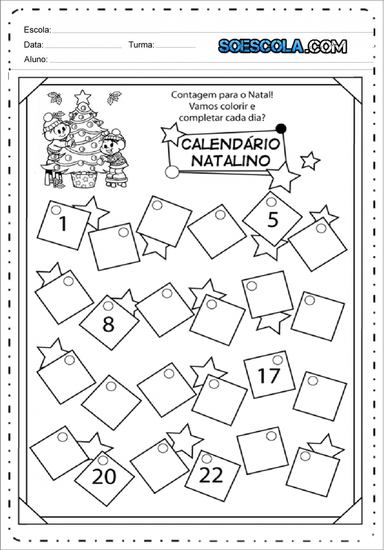 Calendário Natalino para completar