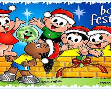 Cartões de Natal da Turma da Mônica