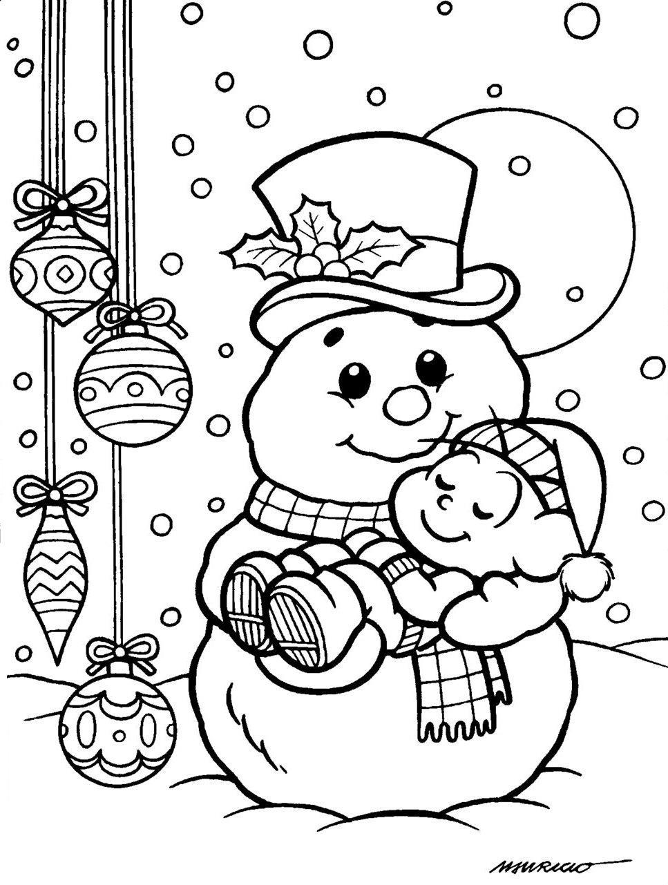 Desenhos de Natal da Turma da Mônica para colorir