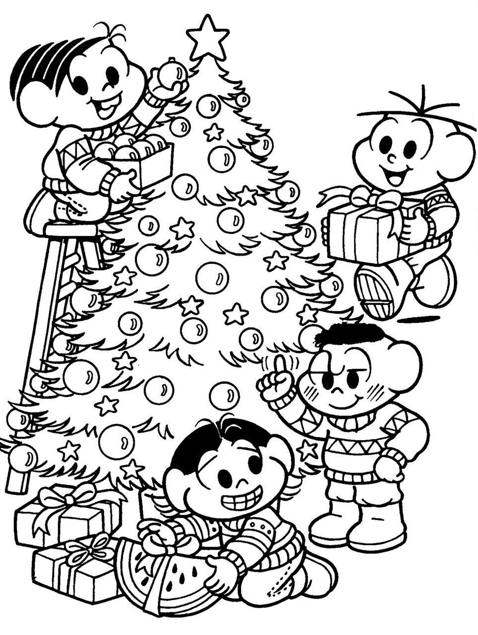 Desenhos De Natal Da Turma Da Monica Para Imprimir