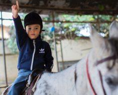 Equoterapia ajuda crianças com paralisia, autismo e síndromes