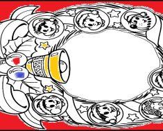 Guirlanda de Natal para colorir