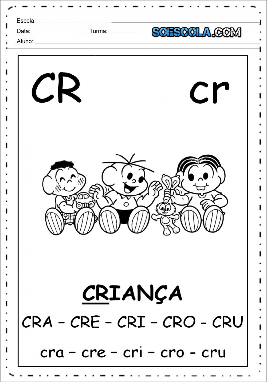 Ficha de Leitura CR – cr: Sílabas complexas