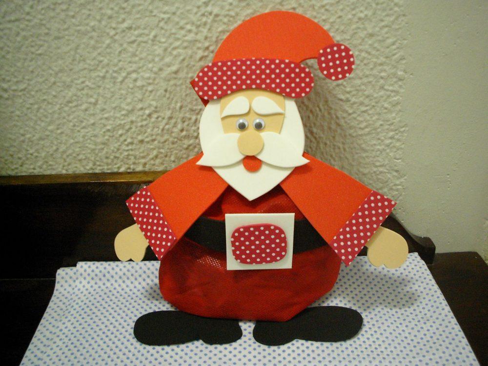 Lembrancinha Papai Noel em EVA e TNT