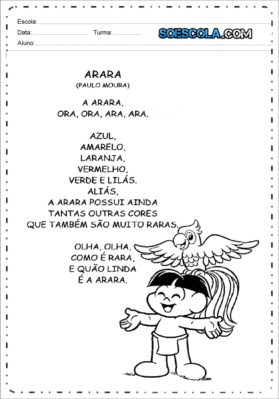Textos para leitura infantil para imprimir