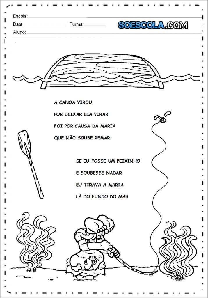 Música A canoa virou para imprimir