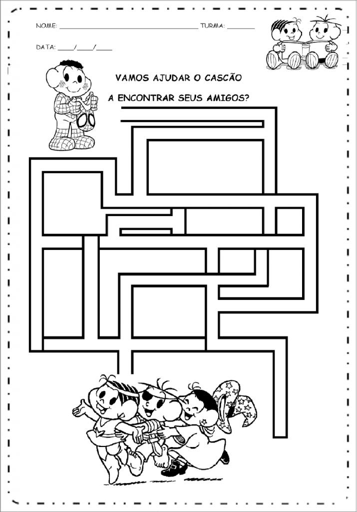 Atividade Labirinto para Carnaval.
