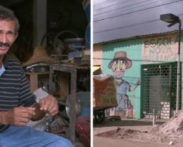 Catador de recicláveis mantém escola para crianças carentes em Olinda há 34 anos