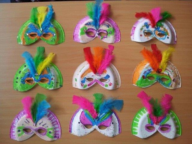 Ideias de Mascaras de Carnaval para crianças