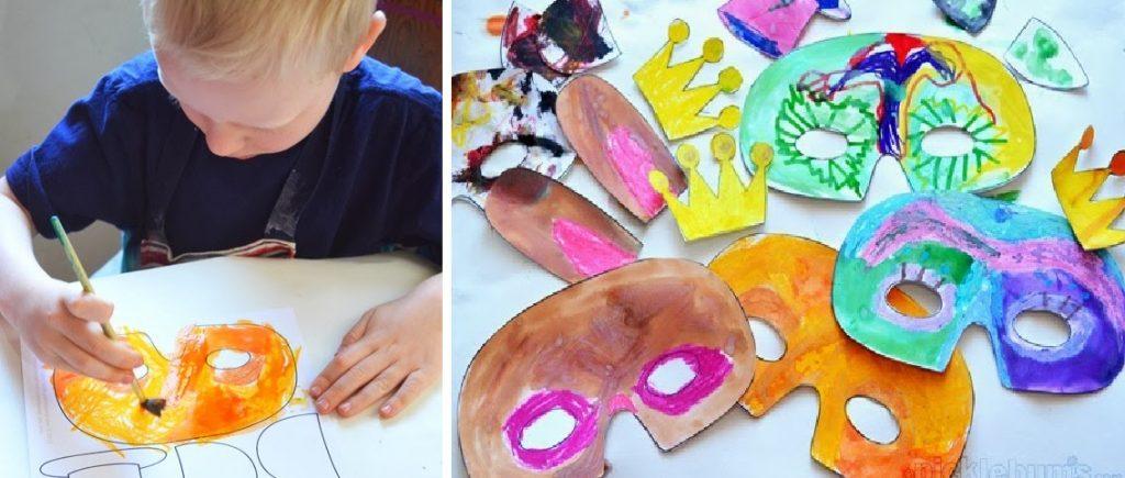 Máscaras para brincar no carnaval com moldes