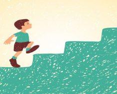 O método da escada para motivar as crianças