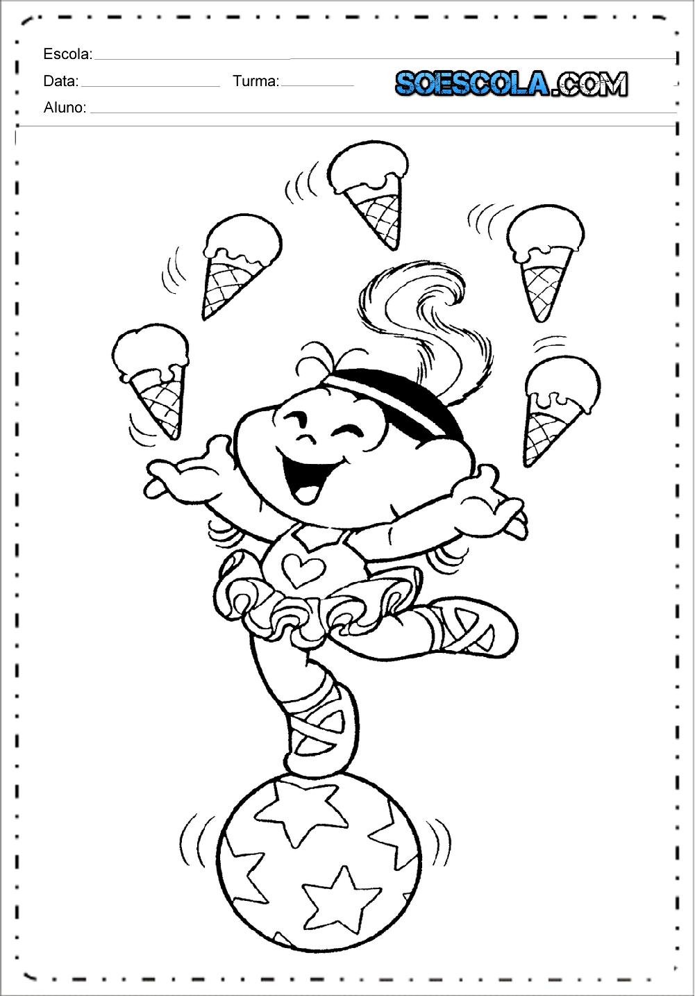 Desenhos De Circo Da Turma Da Monica Para Colorir So Escola