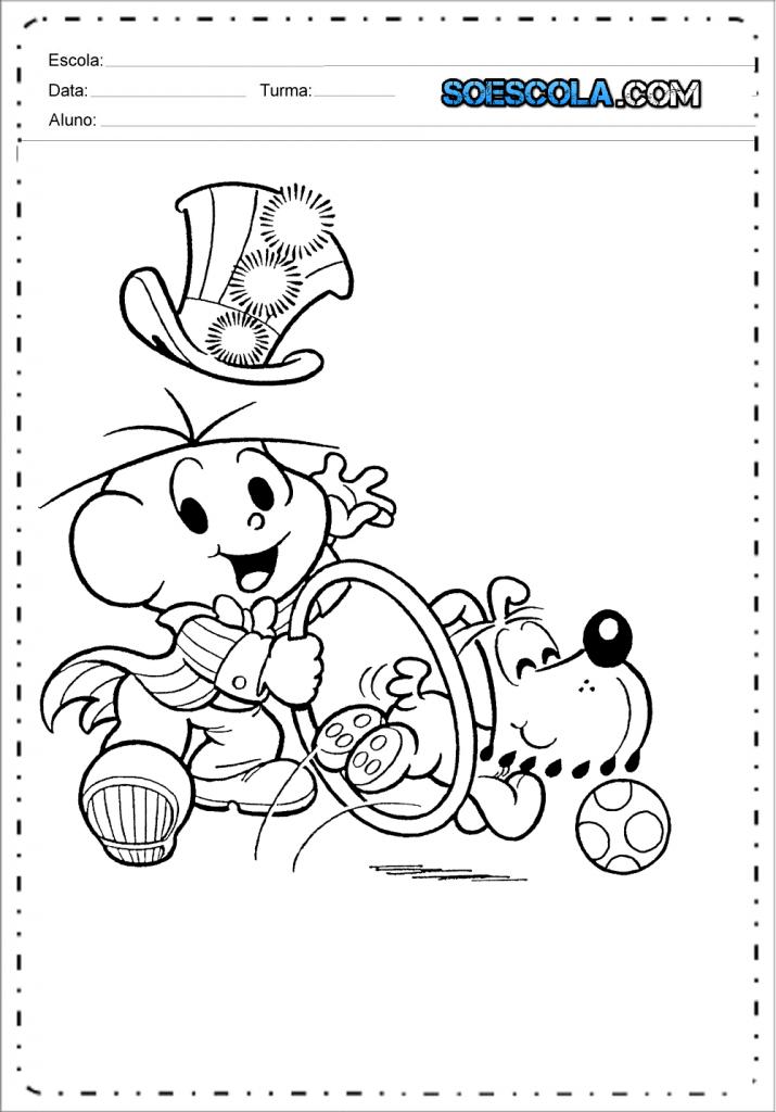 Desenhos de Circo da Turma da Mônica para colorir