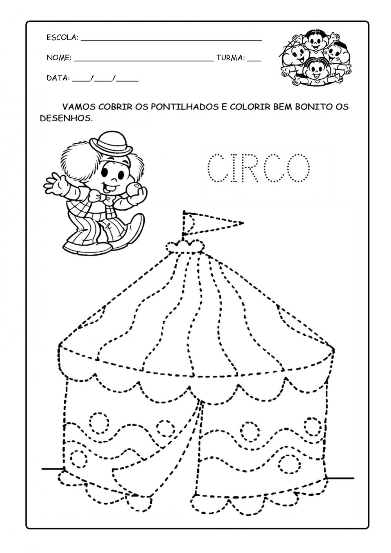 Atividades para o Dia do Circo para imprimir.