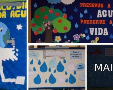 Painel ou Mural para Dia Mundial da Água