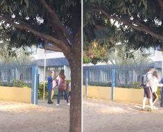 Porteiro vira sucesso após gesto de gentileza em escola em Sinop