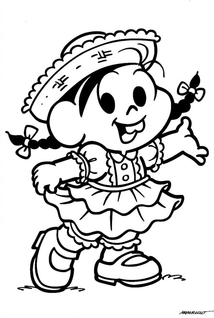 Selecionamos nesta postagem alguns Desenhos para colorir de Festa Junina, ilustrado com os personagens da turma da Monica.