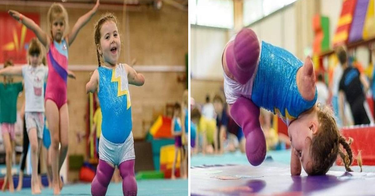 Menina de 5 anos vira ginasta depois de perder os quatro membros e supera qualquer expectativa