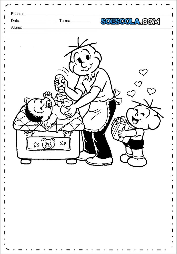 8 Desenhos dia dos pais para colorir