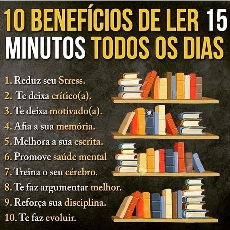 Benefícios de ler pelo menos 15 minutos por dia
