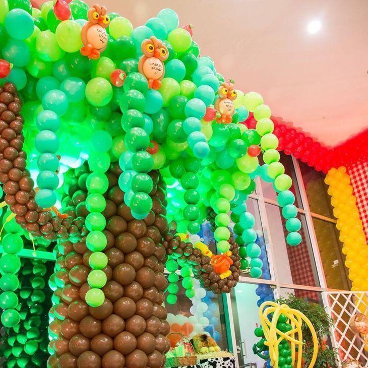 Ideias de Árvores com Balões para o Dia da Árvore