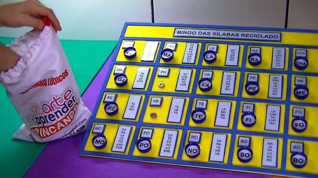 Jogos para alfabetização utilizando materiais reciclados