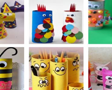 Ideias de Reciclagem com rolo papel higiênico