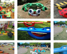 Ideias de Brinquedos reciclados com pneus