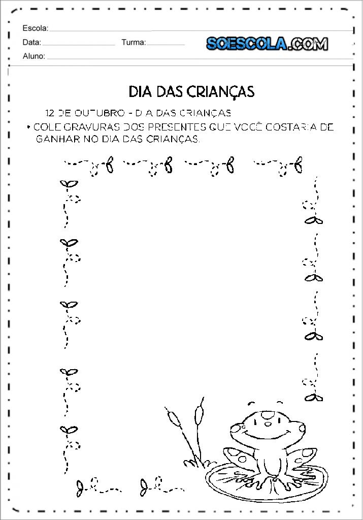 Atividades Dia das Crianças para imprimir