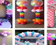 Ideias de decoração de festas com balões