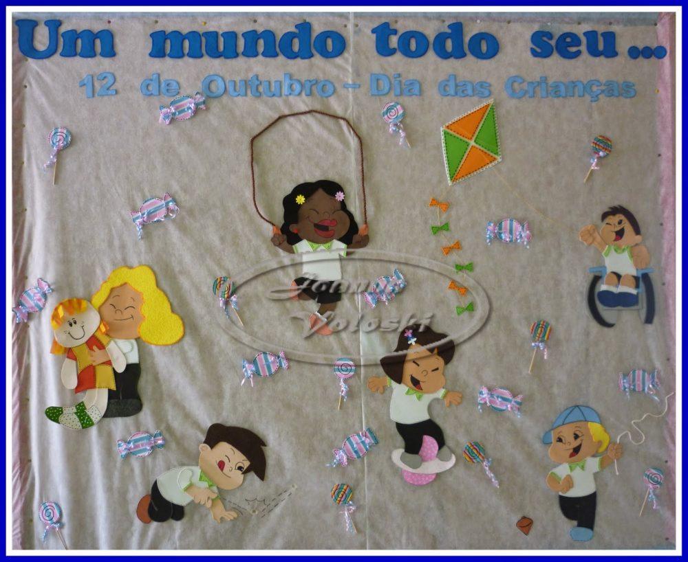 Ideias para Mural para o Dia das Crianças