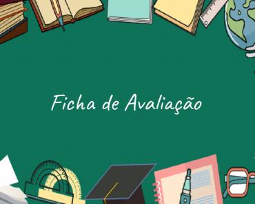 Ficha de avaliação para educação infantil