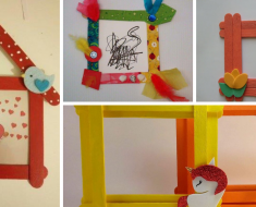 Ideias de porta retrato com palitos de picolé