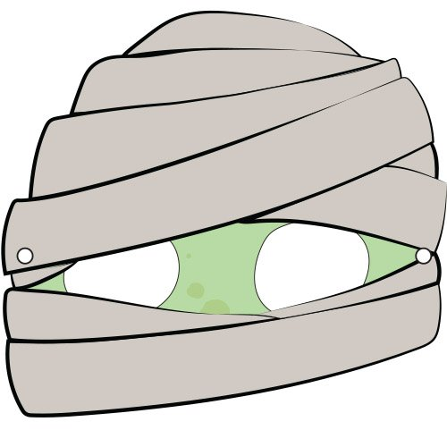 Máscaras de Halloween ilustradas