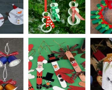 10 ideias de natal com materiais Reciclados