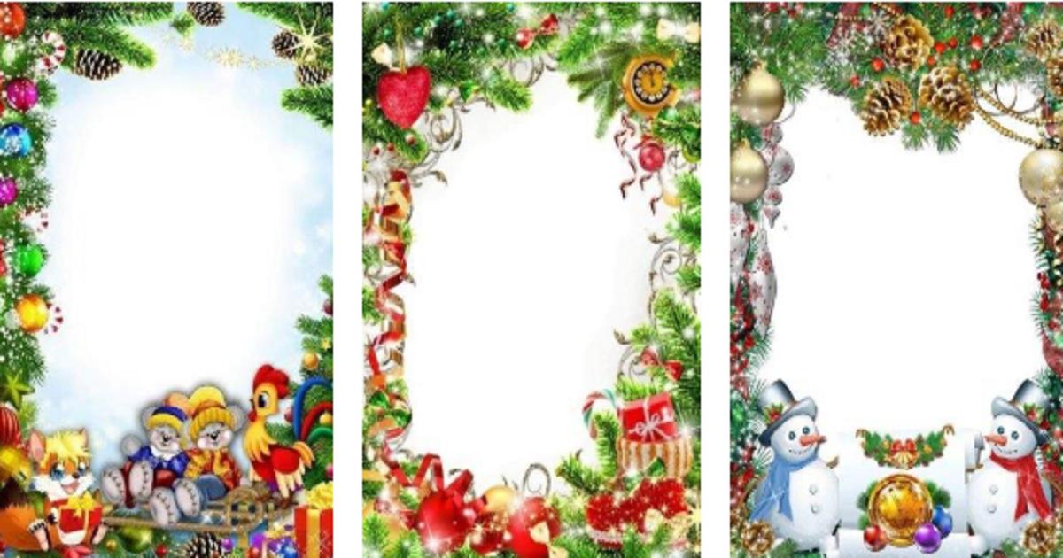 Bordas e molduras de Natal