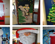 Ideias de Decoração de Portas para o Natal