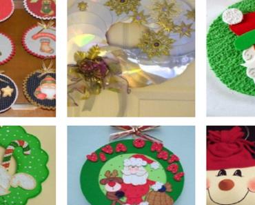 Ideias de Natal com CD recicláveis.