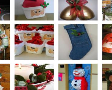Ideias de Natal com Recicláveis