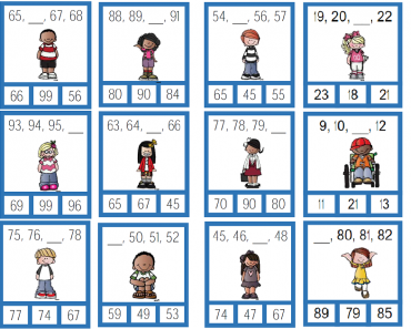 Atividades de Matemática: Continue escrevendo os numerais