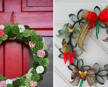 Ideias de guirlandas recicláveis para o Natal