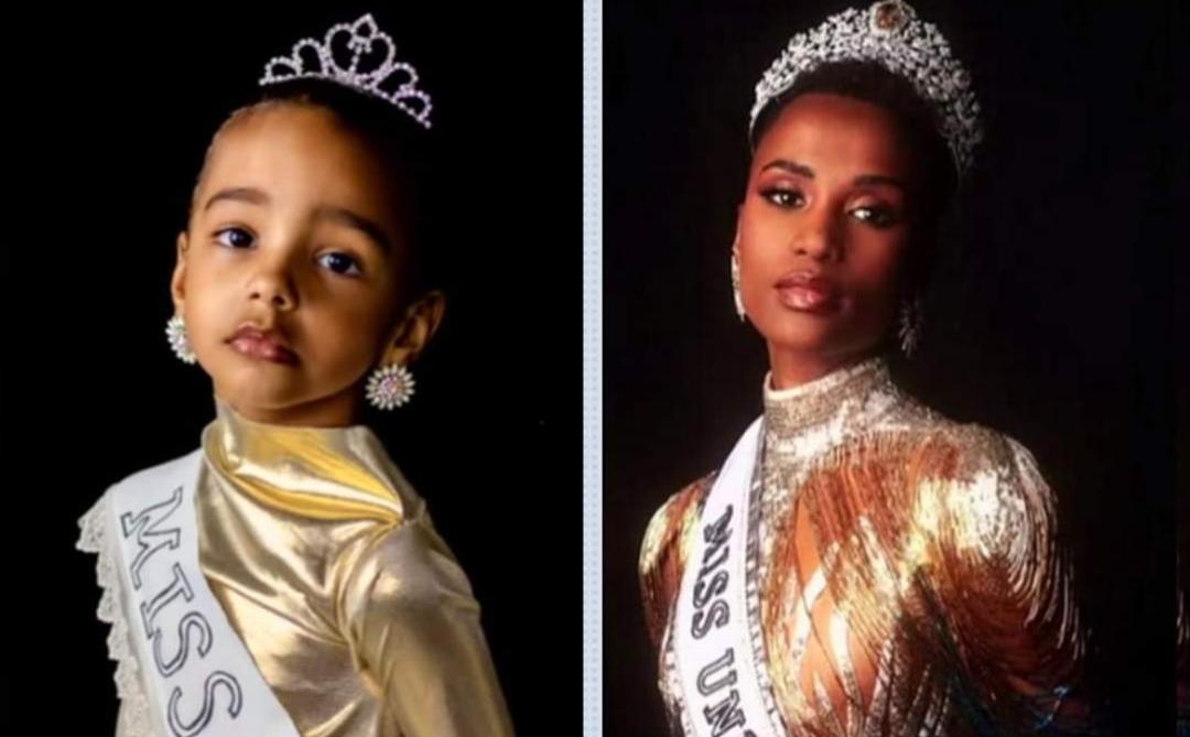 Menina se identifica com vencedora negra do Miss Universo, faz ensaio fotográfico e bomba na web: 'Igual a mim'